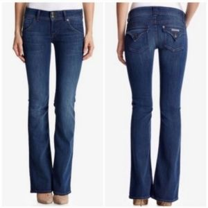 Hudson Signature Midrise Bootcut Jeans, Size 28